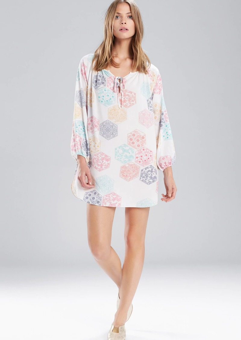 Natori Josie Enchanted Garden Peasant Sleepshirt