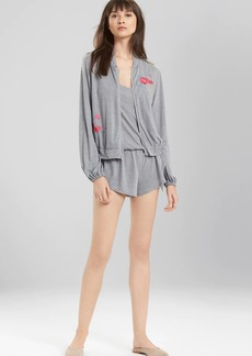 Natori Josie Heathers Embroidered Jacket