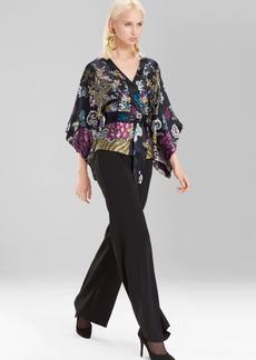 Josie Natori Abstract Dragon Kimono Top