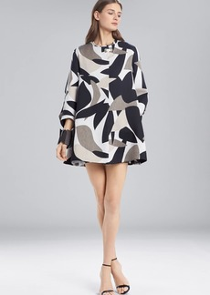 Josie Natori Abstract Printed Jacquard Long Topper