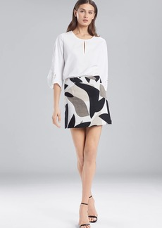 Josie Natori Abstract Printed Jacquard Mini Skirt