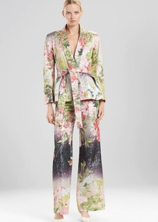Josie Natori Birds Of Paradise Belted Jacket