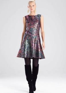 Josie Natori Bohemia Garden Jacquard Flare Dress