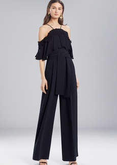 Josie Natori Core Crepe With Lace Jumpsuit