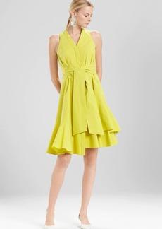 Josie Natori Cotton Poplin Sleeveless Dress