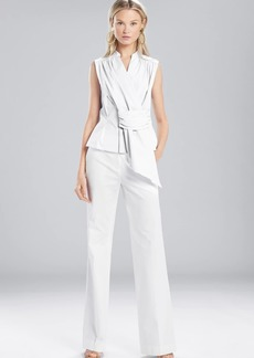 Josie Natori Cotton Shirting Sleeveless Top