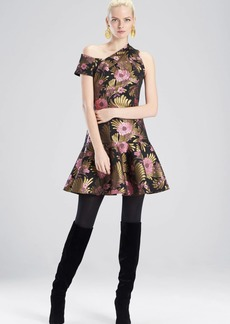 Josie Natori Deco Jacquard Dress