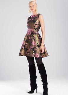 Josie Natori Deco Jacquard Fit and Flare Dress
