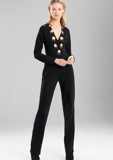 Josie Natori Double Knit Jersey Jumpsuit