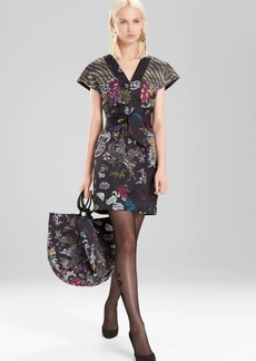 Josie Natori Dragon Jacquard Dress
