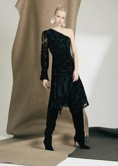 Josie Natori Fallen Floral Burnout Dress