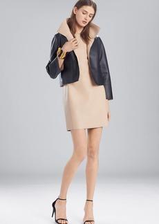 Josie Natori Faux Leather Short Topper