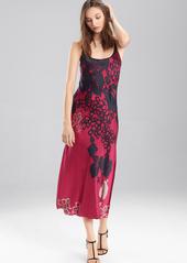 Josie Natori Floral Veil Gown