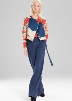 Josie Natori Kimono Patchwork Crop Jacket