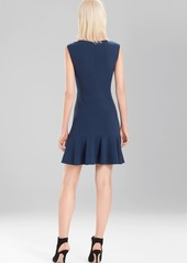 Josie Natori Knit Crepe Ruffle Hem Dress