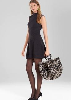 Josie Natori Knit Jacquard Dress