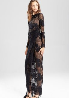 Josie Natori Lace Long Twist Dress