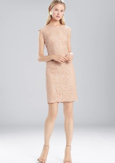 Josie Natori Lacquer Lace Sleeveless Dress