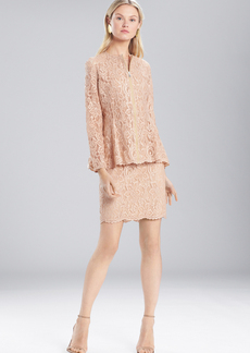 Josie Natori Lacquer Lace Zip Top