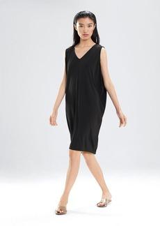 Josie Natori Matte Jersey Drape Dress