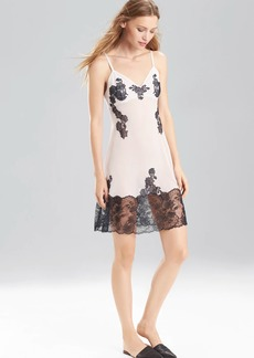 Josie Natori Nenette Chemise with Lace Border