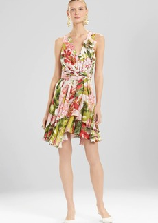 Josie Natori Paradise Floral Dress With Corsage