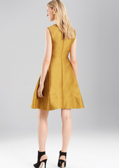 Josie Natori Pebble Jacquard Fit And Flare Dress