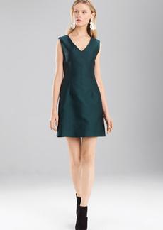 Josie Natori Pebble Jacquard Sleeveless Dress
