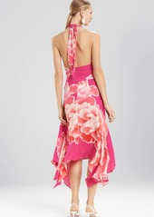 Josie Natori Peony Halter Dress