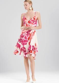 Josie Natori Peony Ruffle Slip Dress