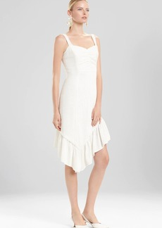 Josie Natori Plisse Asymmetrical Ruffle Dress