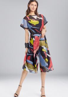 Josie Natori Printed Gauze Culottes