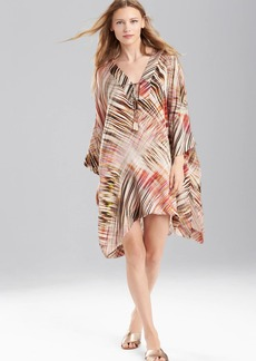 Josie Natori Printed Silk Charmeuse Tunic