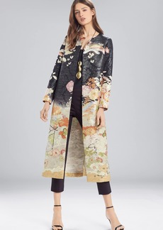 Josie Natori Scenery Metallic Jacquard Long Topper