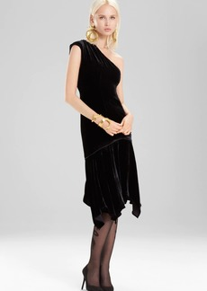 Josie Natori Silk Velvet Dress
