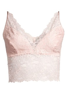 Josie Natori Sleek Stretch Silk Lace Bralette