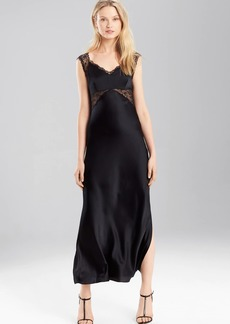 Josie Natori Stretch Silk Charmeuse Gown