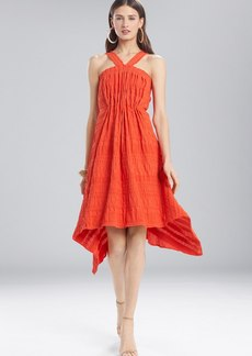 Josie Natori Summer Texture Eyelet Dress