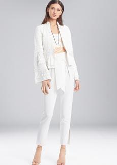 Josie Natori Summer Texture Peplum Jacket