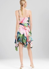 Josie Natori Sunset Palms Ruffle Slip Dress
