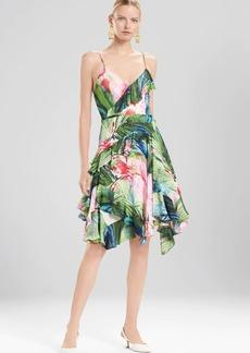 Josie Natori Sunset Palms Ruffle Slip Dress