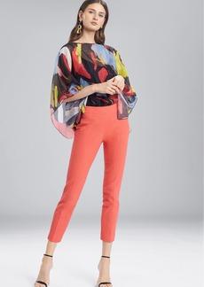Josie Natori Textured Cotton Ankle Pants