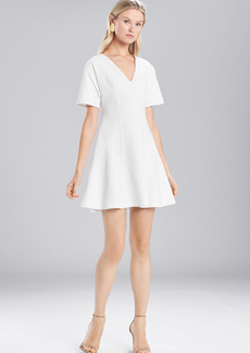 Josie Natori Textured Cotton Short Sleeve Dress