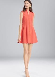 Josie Natori Textured Cotton Sleeveless Dress