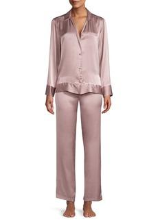 Josie Natori 2-Piece Silk Pajama Set
