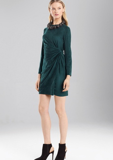 Josie Natori Ultra Suede Knot Wrap Dress