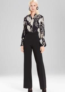 Josie Natori Wandering Clouds Button Down Top