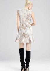 Josie Natori Winter Tide Jacquard Dress