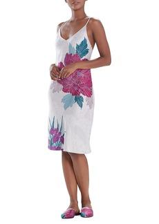 Natori Jubako Floral Slip Dress