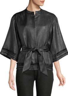 Natori Kimono Fringe Topper Jacket